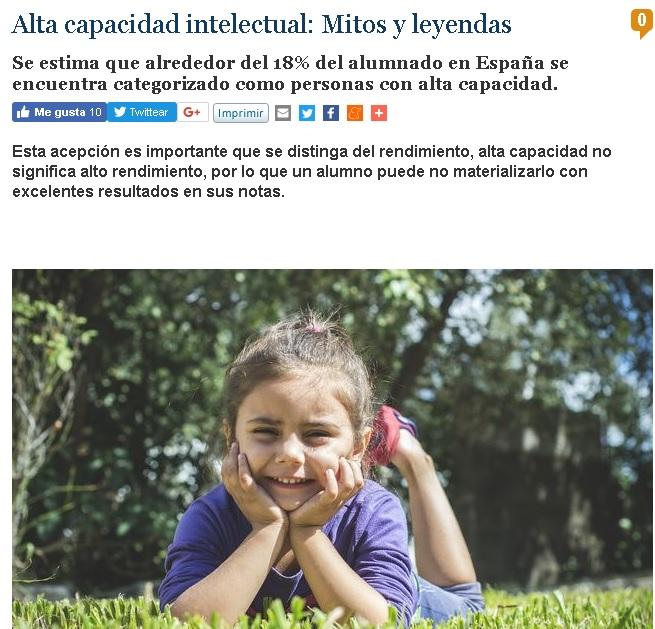Alta capacidad intelectual: Mitos y leyendas